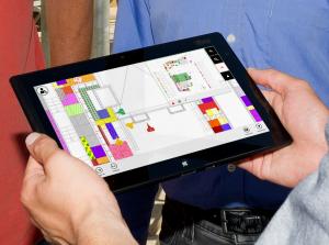 Eyeled GmbH mobiPlan Bauplan App Markierungen auf dem Tablet