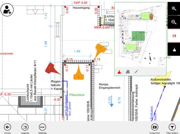 Bauplan Screen App mobiPlan Eyeled GmbH