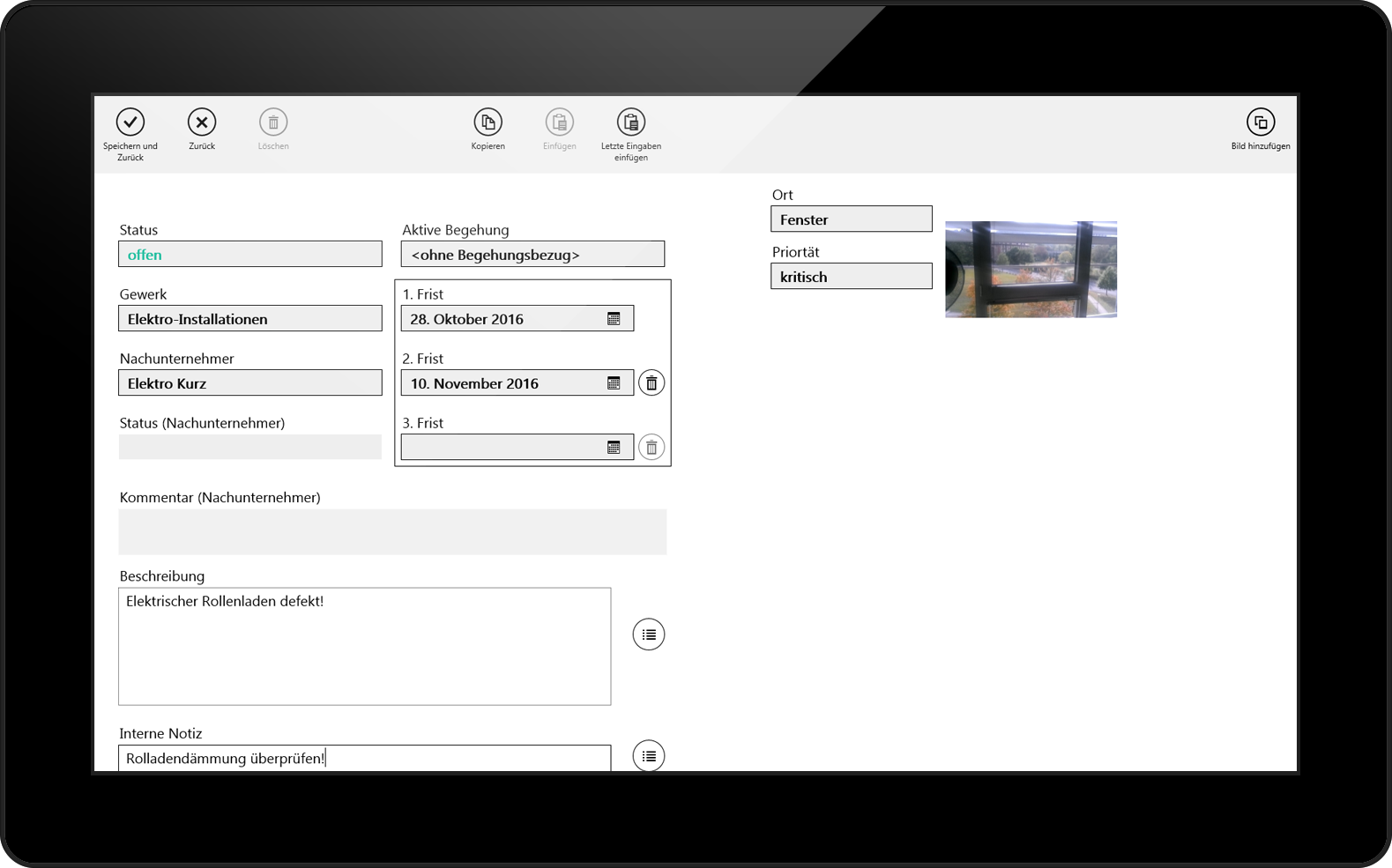 Eyeled GmbH mobiPlan Formular Screen App
