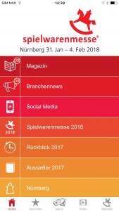 Spielwarenmesse®-App Screenshot. eyeGuide, Messe-App von Eyeled GmbH