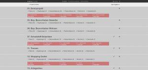Projektansicht mobiPlan Webportal