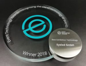 Best Exhibition Technology Award für eyeGuide, Event Technology Award 2018