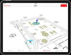 Eyeled eyeGuide classic für Messen und Kongresse Funktionen App