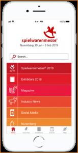 Eyeled eyeGuide classic für Messen und Kongresse Funktionen Spielwarenmesse App