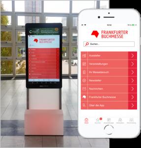 AppScreens auf der Frankfurter Buchmesse 2019 mit der Buchmesse App der Eyeled GmbH basierend auf eyeGuide