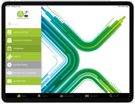 IT-TRANS Messe-App auf Tablet basierend auf eyeGuide