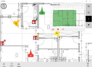 mobiPlan-App: Planansicht