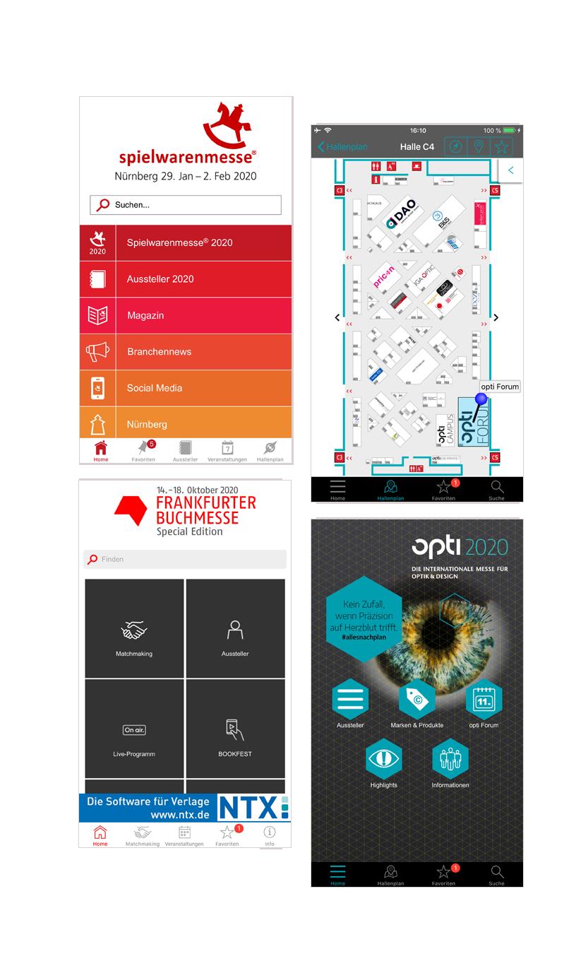 Zusammenstellung Referenzen Messe-App basierend auf eyeGuide