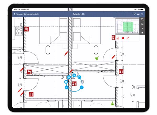 mobiPlan für iPads: Mängelmanagement, Baustellenbegehungen, Qualitätskontrollen