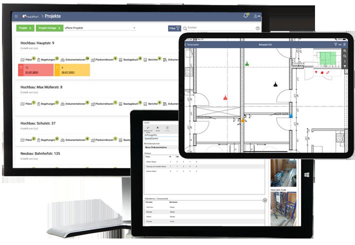 mobiPlan - Aktuelle digitale & mobile Pläne, Mängelmanagement und Bautagebuch direkt vor Ort